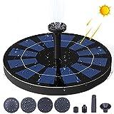 Bomba de Fuente Solar, Bomba de Agua Solar de 3W, Fuente Solar con Estanque de 6 boquillas, Fuente, Baño de pájaros, Decoración de jardín, Ciclismo acuático