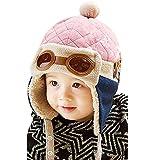 BaZhaHei Berretti e Cappellini Bambino,Invernale Cappa Calda Uncinetto Earflap Cappello per i più Piccoli Ragazzino Aviatore Beanie Pilota