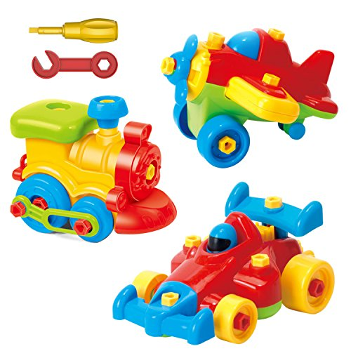 Take Apart Toys Set - Airplane Toy - Train Toy - Racing Car Toy, For Kids - Stem...