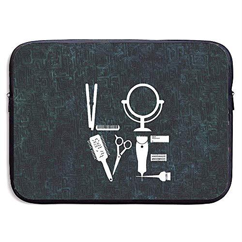 15 inch Kapper Haarstylist Liefde voor Haar Stylist Bib.jpg Waterafstotende Laptop Sleeve Case Tas Cover