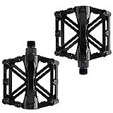 Pedales de bicicleta antideslizantes y duraderos, eje de 9/16 pulgadas de aluminio con rodamientos sellados antideslizantes, para todos los pedales de bicicleta / carretera / Mountain Bike / Rennrad