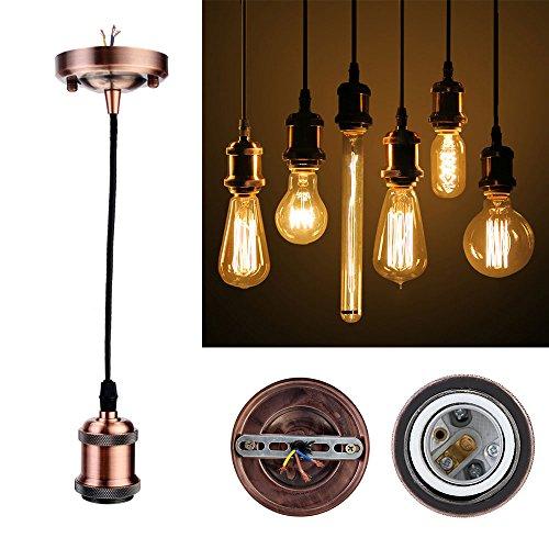 GreenSun LED Lighting Douille de lampe Style Vintage Edison E27 culot de lampe antique avec câble de 1,35 m
