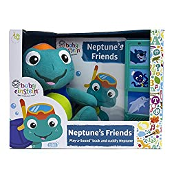 Neptune's Friends book, Box and Plush. A great book for a year and beyond. Interactive plush and book with sounds included.