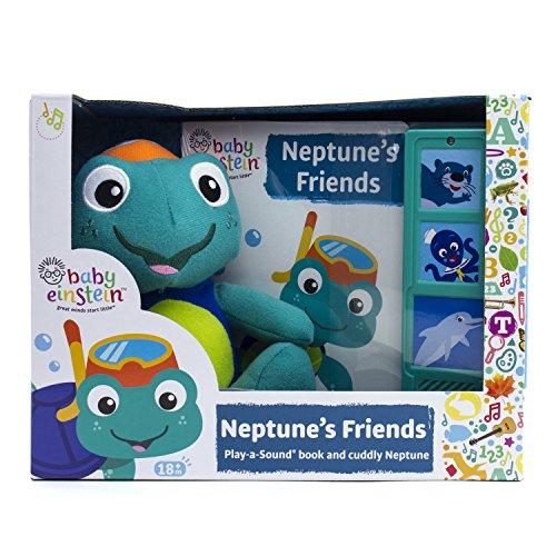 Baby Einstein - Neptune's Friends - Play-a-Sound Book and Cuddly Neptune Plush - PI Kids