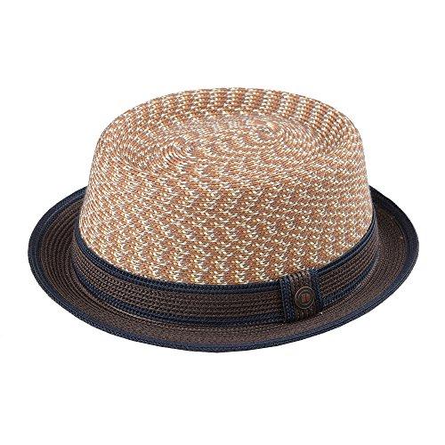 Dasmarca Bill Sunset Crushable & Packable Porkpie Multicolor Summer Straw Hat M