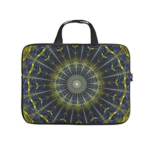 Mandala Flowers Laptop Bag Scratch Resistant Notebook Sleeve Design Notebook Bag for University Work Business