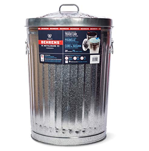 Garbage Can With Side Drop Handles - 20 Gallon