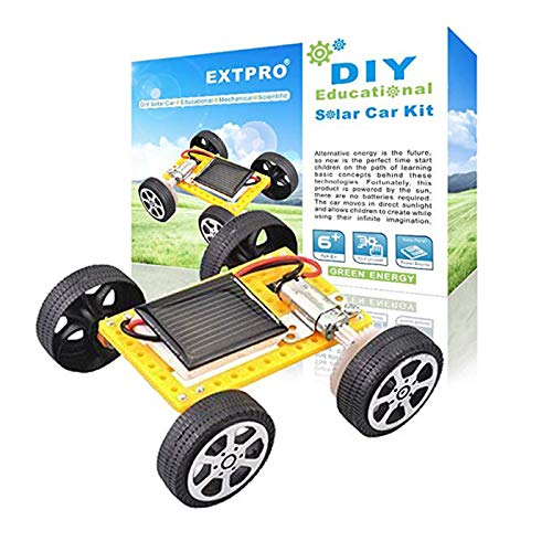 Extpro Solar Car - DIY Assemble Toy Set Solar Powered Car Kit Science Educational Kit for Kids Students