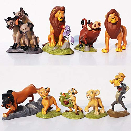 Rey Leon Lion King Figuras Accion Simba Nala Timon Modelo PVC Figuras Muneca Clasica para Ninos 9pcs / Set 5-9cm