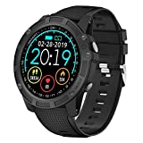 【Neuste Modell】 Antimi Smartwatch, Bluetooth Smart Watch Fitness Tracker Armband Sport Uhr Pulsuhren Schrittzähler Schlafmonitor mit IP68 Wasserdicht Schwimmen Blutdruckmessung für iOS...