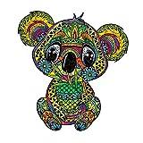 Cuteefun Puzzles de Madera para Adultos Puzzles Animales de Formas Unicas Lindo Coala Colorido Puzzles de 215 Piezas para Regalo Familiar
