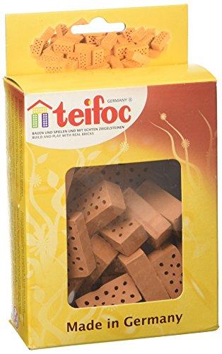 Unbekannt Eichsfelder Technik eitech Gmb TEI906601 Teifoc Steinbaukästen Konstruktionsspielzeug, rot, Multi Color, Backstein-Rot-32 stück