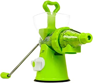 Original Natural Juicer Slow Masticating Mixer Extractor,Cold Press Grinding Squeeze Juicer Machine,Multi-Function Hand Crank Wheatgrass Blender Manual Citrus Fruit Reamer Vegetable Maker For Fresh Ice Cream Pear Apples Oranges Grapes Watermelons Celeries Grapefruit Spinach Omegranate. (All Green)