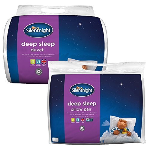 Silentnight Deep Sleep 10.5 Tog Duvet with a Pair of Pillows, Single