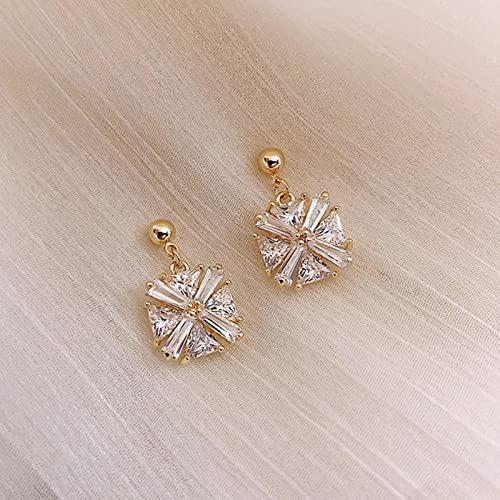 Pendiente Colgante de Planeta de Cristal de Moda para Mujer, Pendiente Elegante de Perlas de Moda Simple, joyería de Temperamento de Diamantes de imitación Femenina