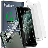Ferilinso Screen Protector for iPhone 11 Pro with 3 Pack Camera...