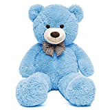 MaoGoLan Big Blue Teddy Bear Stuffed Animal 3ft Plush Big Blue Bear Toy 39 Inches Birthday Gift for Girlfriend Children Christmas Day