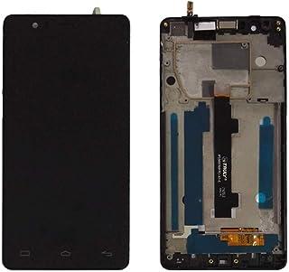 JayTong - visualización LCD y digitalizador de visualización táctil de Repuesto para BQ Aquaris E5 4G 0760 IPS5K0760FPC-A1-E Negro con Marco