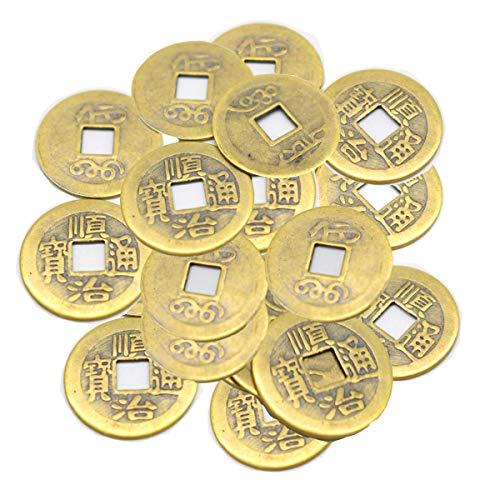 Mengger Monedas Chinas Juguete Feng Shui Antiguas I-ching Monedas de Fortuna para Suerte Salud y Riqueza 100 Piezas Chino Colgantes