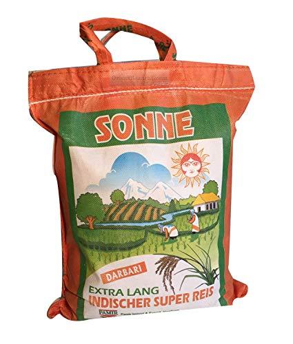 Riz Basmati soleil Extra Long khorshid darbari 10kg Super langkorniger basmatirice Traditional riz basmati, l'Inde, Himalaya