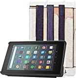 Funda para Tableta Funda con Teclas de Piano en Blanco y Negro para Kindle para Tableta Fire 7 (nove...