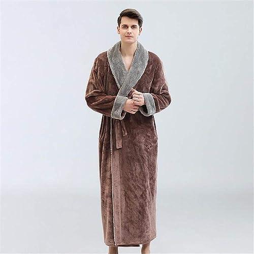 ZSDGY Couple de Flanelle Chemise de Nuit Corail Molleton épais Pyjama de Peignoir pour Hommes B-M