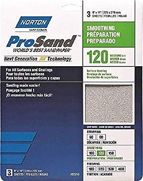 AA2479 15 PCS NORTON 00856 120GRIT PROFILE SANDING SHEET
