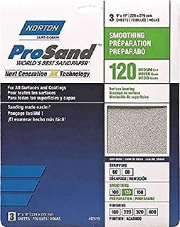 Norton Co. 2619 Norton 02619 3X Handy Aluminum-Oxide Sandpaper 120 Grit, 9 x 11-Inch,1-Pack