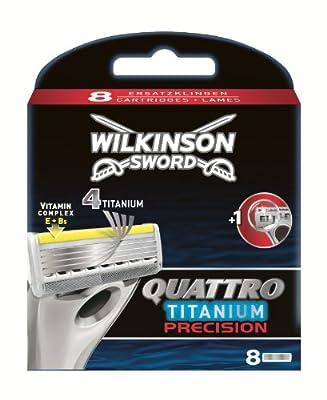 Wilkinson Sword Quattro Titanium Precision Razor Blades - Pack of 8 from Wilkinson Sword