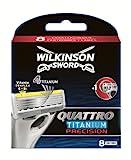 Wilkinson Sword Quattro - Hoja de afeitar para hombre, 8 unidades