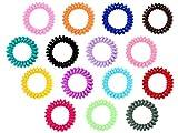 Alsino lot de 2 élastiques pour cheveux en forme de câble téléphonique spirale...