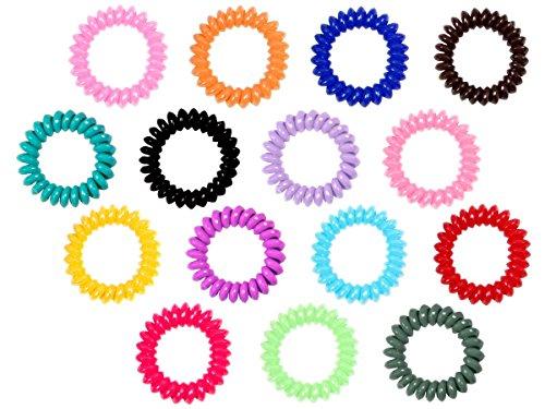 Alsino 10er Set Telefonkabel Haargummi Haarband Spirale Haarband Zopfgummi , Variante wählen:HG-20 bunt groß