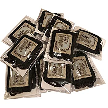 VILLAGE GIFT IMPORTERS Bulk Buy 12 Pack Official Our Lady of Mount Carmel Brown Scapular - 100% Wool!  12-Pack