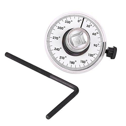 Outbit Drehmoment-Winkelmesser - 1 PC mit 360 Grad Winkel 1/2 Zoll Einstellbarer Antriebswinkel-Torsionsschlüssel, Auto-Messlehre-Tool-Set.