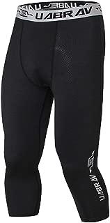 CTHOPER Men's Compression Dry Cool Sports Tights Training Pants Baselayer 3/4 Running Leggings Yoga