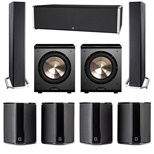 Lowest Prices! Definitive Technology 7.2 System with 2 BP9040 Tower Speakers, 1 CS9040 Center Channel Speaker, 4 SR9040 Surround Speaker, 2 BIC PL-200 Subwoofer