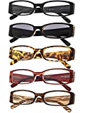 Gr8Sight 5-Pack Ladies Reading Glasses Includes Sunshine Readers for Women