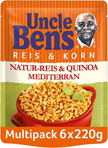 Uncle Ben's Express-Reis & Korn Natur Reis & Quinoa Mediterran, 6 Packungen (6 x 220g)