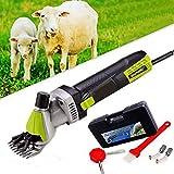CHEIRS Schwarz Schafschere 2400rpm Elektrische Schafschere Set Schermaschine Für Schafe, Alpaka, Lamas, Pferde, Rinder, Nutztiere, Sheap Clipper