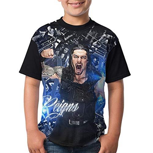 maichengxuan Youth Tops Grafik Roman-R-Reigns T-Shirts Kurzarm-T-Shirts Nettes T-Shirt für Jungen Mädchen XL