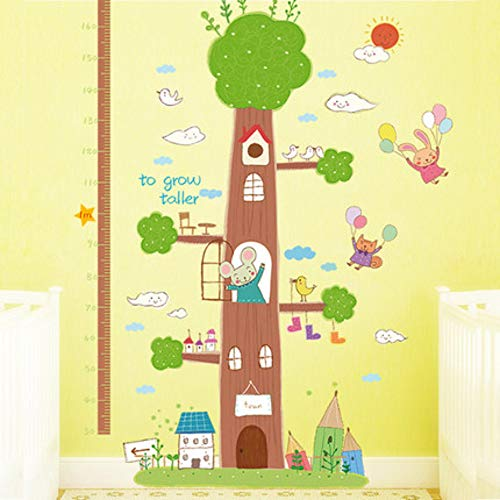 Muursticker potlood boom dier meting hoogte stickers kinderkamer slaapkamer Cartoon hoogte stickers kleuterschool klas