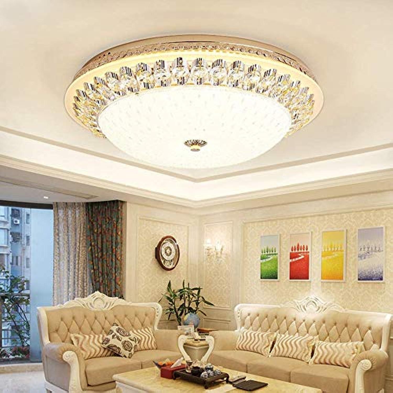 VISTANIA LED Kristall Deckenleuchte Goldene Runde Glas Pendelleuchte Moderne Einfache Wohnzimmer Schlafzimmer Kristall Licht Warmes Licht,40CM