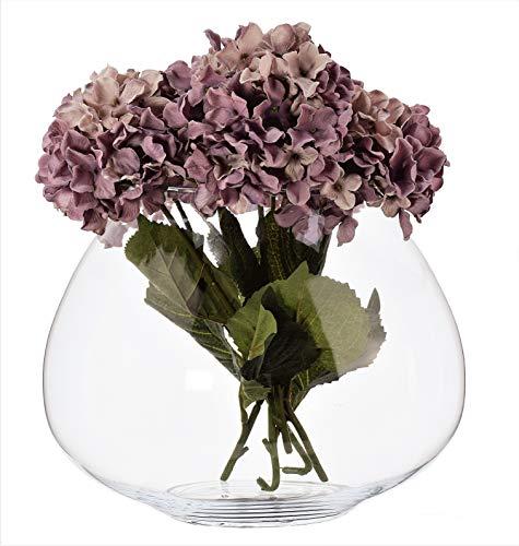 SOLAVIA Ovaal glas Ovaal Bloem Orchidee Vaas Terrarium 26 x 17,5 cm Tank Vaas Planter, Huiswarming Gift