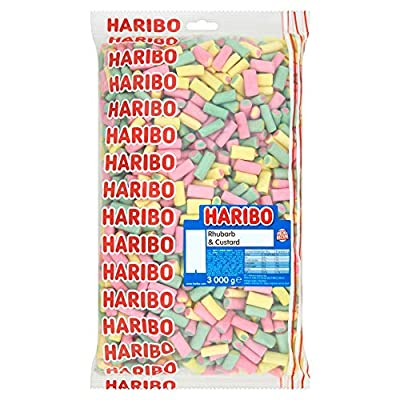 haribo rhubarb and custard bulk bag 3 kg Haribo Rhubarb and Custard Bulk Bag 3 Kg 51tNp1PnwKL