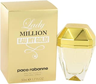 Lady Million Eau My Gold by Paco Rabanne for Women Eau de Toilette 50ml
