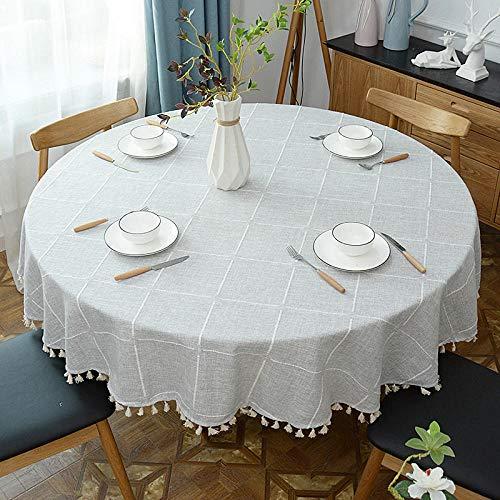 Onderhoudsvriendelijk, vuilafstotend, hoge temperatuurbestendigheid. Kleur en grootte naar keuze. Ronde eettafel, ronde salontafel, tafelkleed, diameter 160 cm.