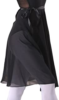 Adult Ladies Ballet Leotard Tutu Skirt Women Dance Wrap Over Scarf 60cm Length Skirt Chiffon