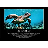 GREAT ART® Edle Motivationsposter – Be Patient –