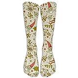 Calcetines de mujer hasta la rodilla calcetines de Navidad juguete de invierno cálido algodón calcetines largos calcetines deportivos
