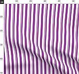 Streifen, Lila Stoffe - Individuell Bedruckt von
